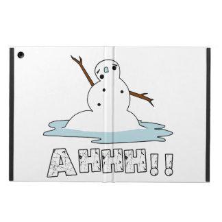 Snowman Melting iPad Air Covers