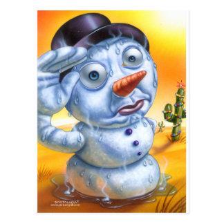snowman_melting postcard