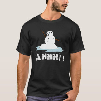 Snowman Melting T-Shirt