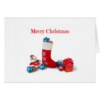 Snowman Merry Christmas Greeting Card