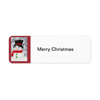 Snowman, Merry Christmas label Return Address Label