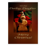 Snowman Merry Christmas  - Our Daughter Card
