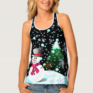 "Snowman ""Merry Christmas"" personalised Tank Top"