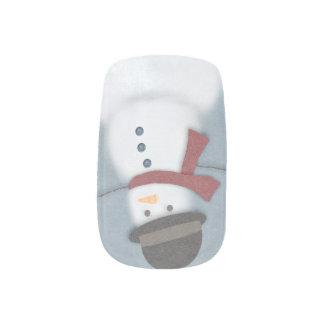 Snowman Minx Nail Art