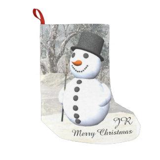 Snowman monogram Christmas stocking