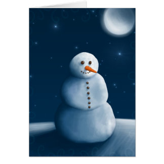Snowman moonlighting card
