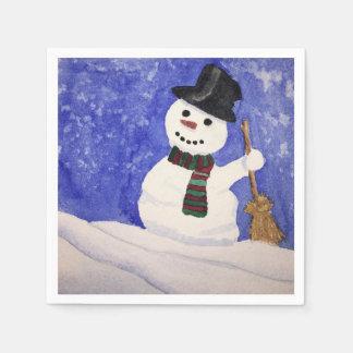 Snowman napkins paper napkin