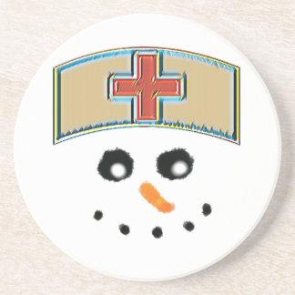 Snowman nurse coasters