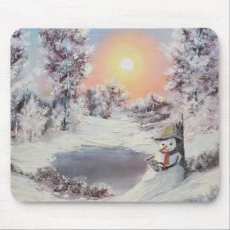 Snowman online mouse pad