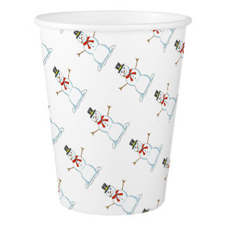 Snowman Paper Cups