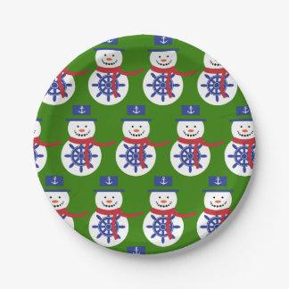 Snowman. Paper Plate