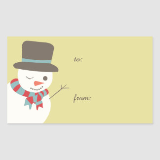Snowman Party Gift Tag Stickers