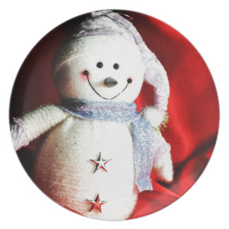 Snowman Party Plate