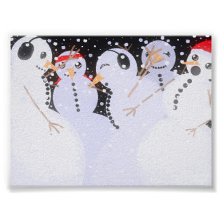 Snowman Party Poster