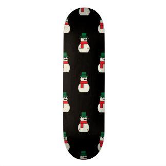 Snowman Pattern Colored Skateboard
