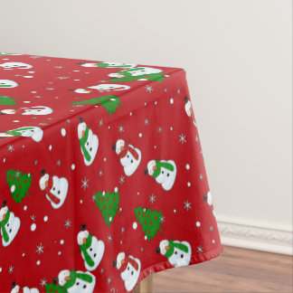 Snowman pattern tablecloth