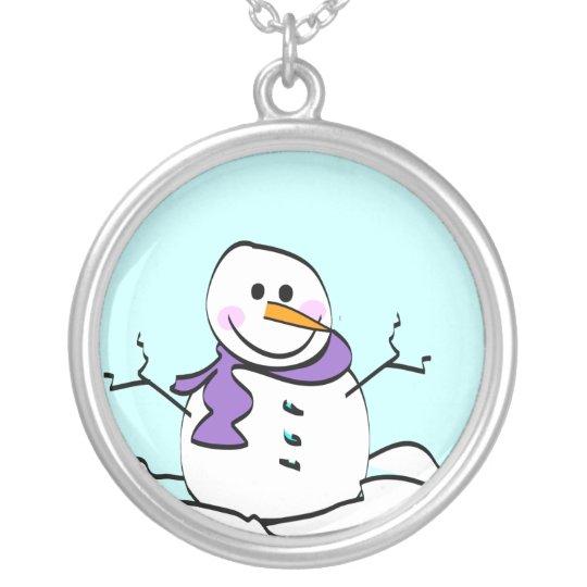Snowman Pendant Necklace