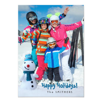 Snowman, Personal Greeting w/ One Photo Card