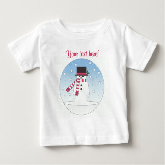 Snowman - Personalised Baby T-Shirt