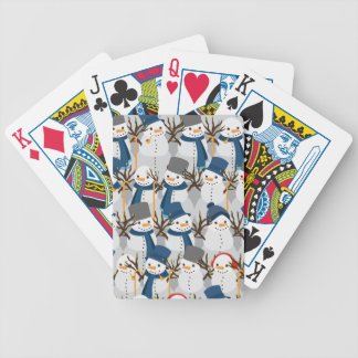 Snowman Pile Bicycle Playing Cards