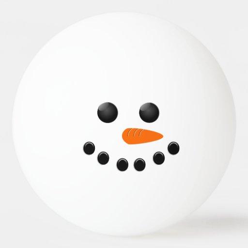 Snowman Ping Pong Ball