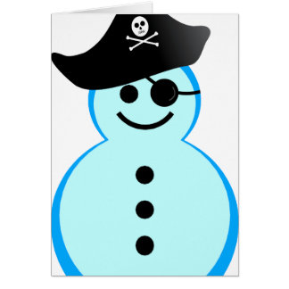 snowman pirate. greeting card