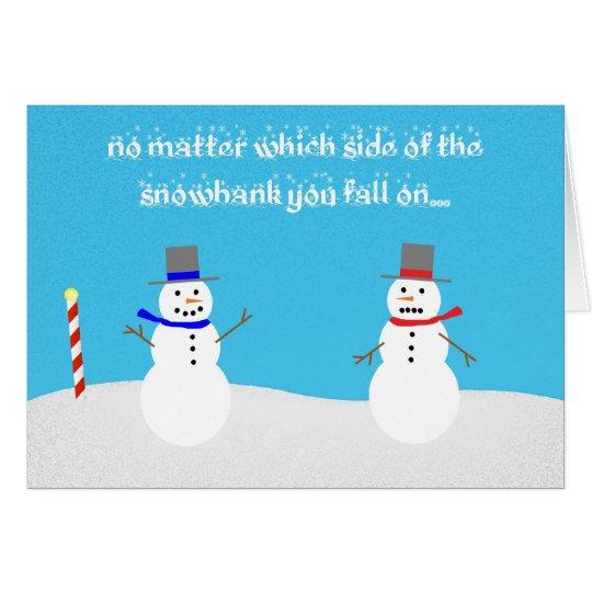 snowman politics card