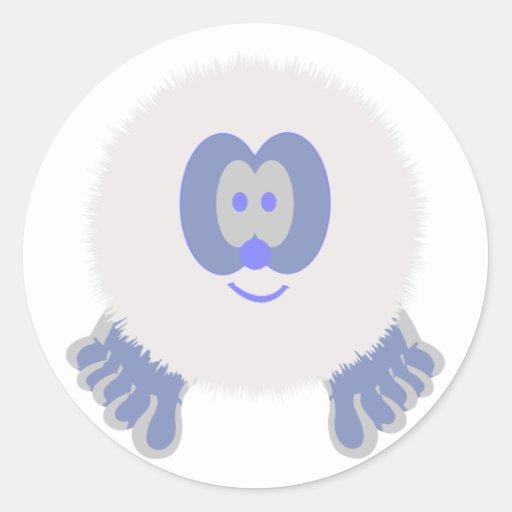 Snowman Pom Pom Pal Stickers