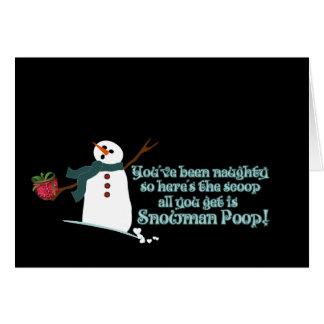 Snowman Poop Greeting Card