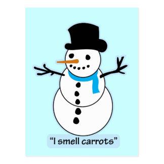 snowman postcard