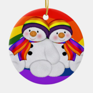 Snowman Pride Christmas Ornament