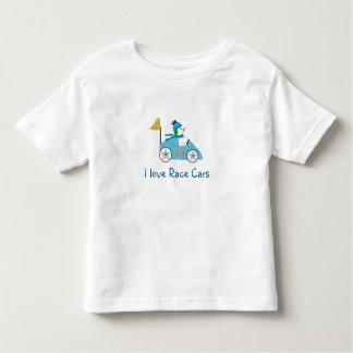 Snowman Race Car Driver Toddler T-Shirt