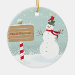 Snowman Red Birds From Our House To Yours Christmas Ornament