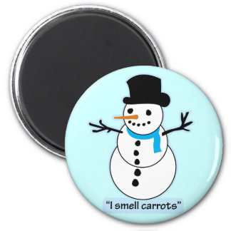 snowman refrigerator magnet