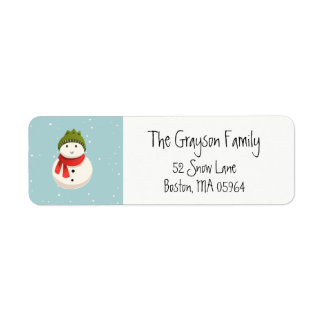 Snowman | Return Address Labels