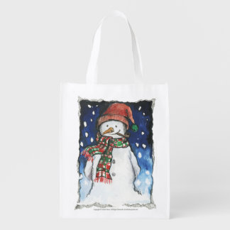 Snowman - reusable bags