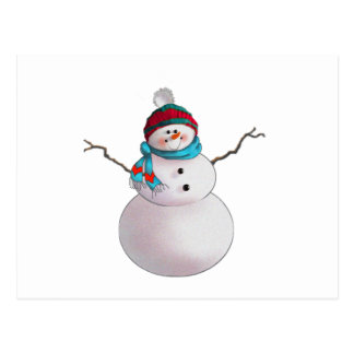 SNOWMAN, SCARF & STOCKING CAP by SHARON SHARPE Postcard