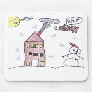 Snowman Scene Mouse Pad