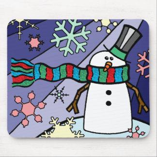 Snowman Scenery Mouse Mat