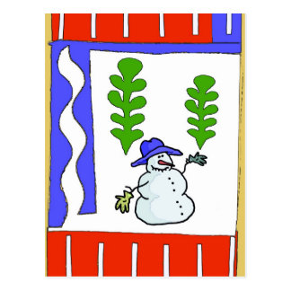 Snowman Season's Greetings Postcard