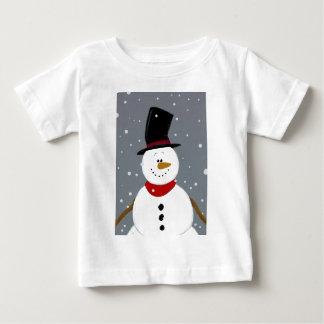 Snowman - Silver Baby T-Shirt