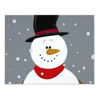 Snowman - Silver Card
