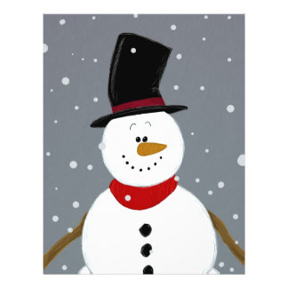 Snowman - Silver Full Color Flyer