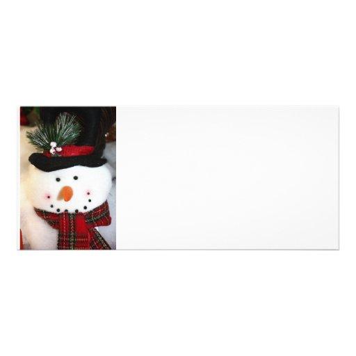 Snowman Smile Customized Rack Card