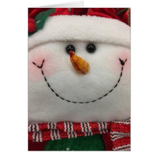 Snowman Smiling Holiday Season Greeting Card