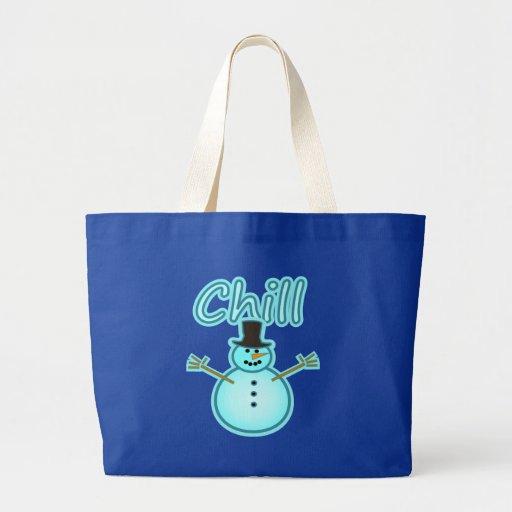 Snowman Snow Man Chill Winter Design Canvas Bags