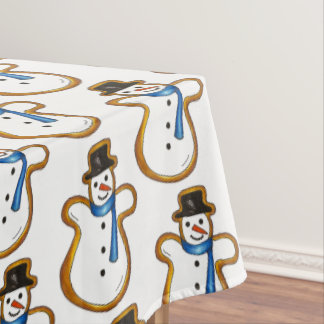 Snowman Snow Man Winter Sugar Cookie Christmas Tablecloth