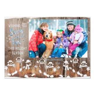 "Snowman ""Snow Much Fun"" with Single Photo Card"