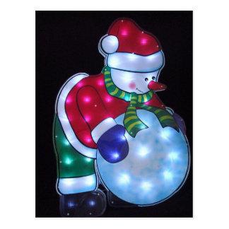 Snowman Snowbal Postcard