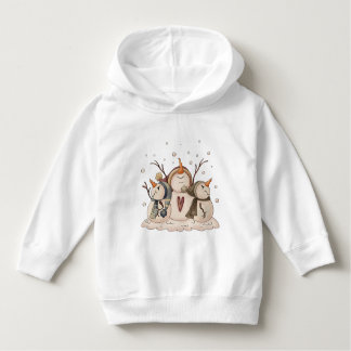 Snowman Snowflake Christmas Country Primitive Hoodie